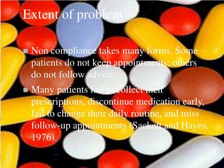 Extent of problem