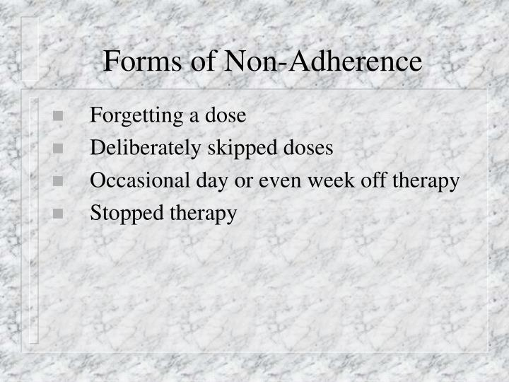Forms of Non-Adherence