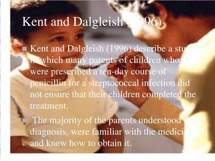 Kent and Dalgleish (1996)
