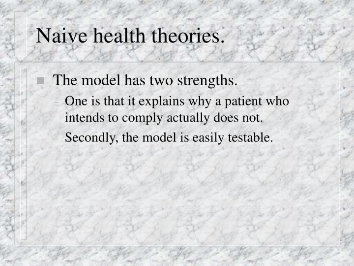 Naive health theories.