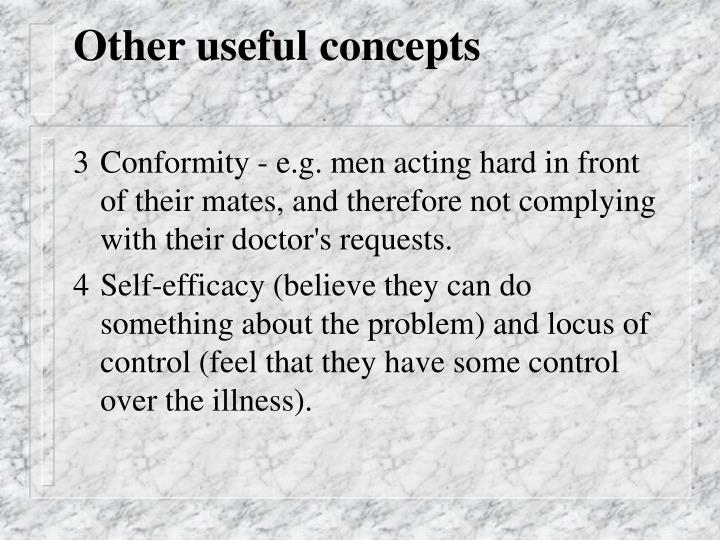 Other useful concepts