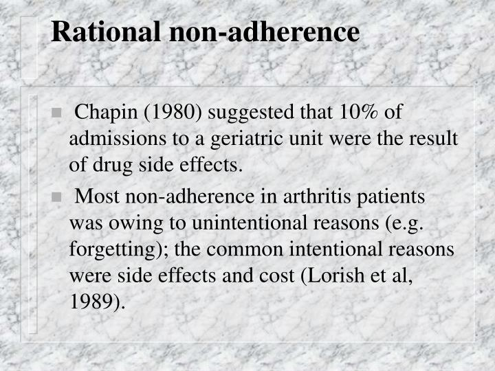 Rational non-adherence
