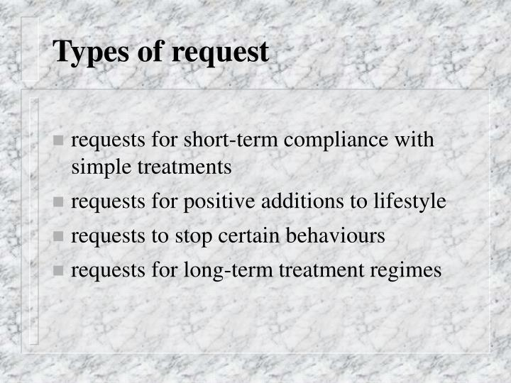 Types of request