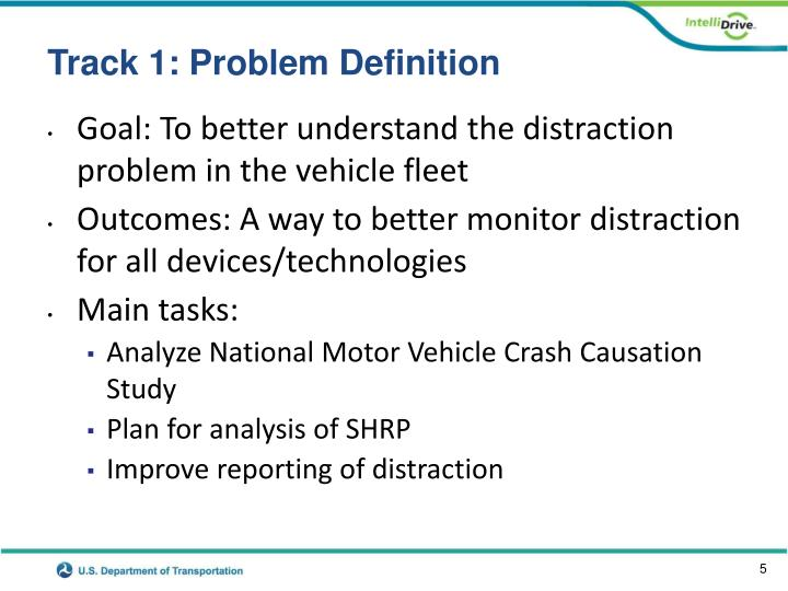 Track 1: Problem Definition
