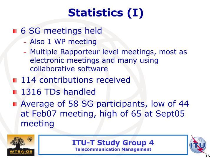 Statistics (I)