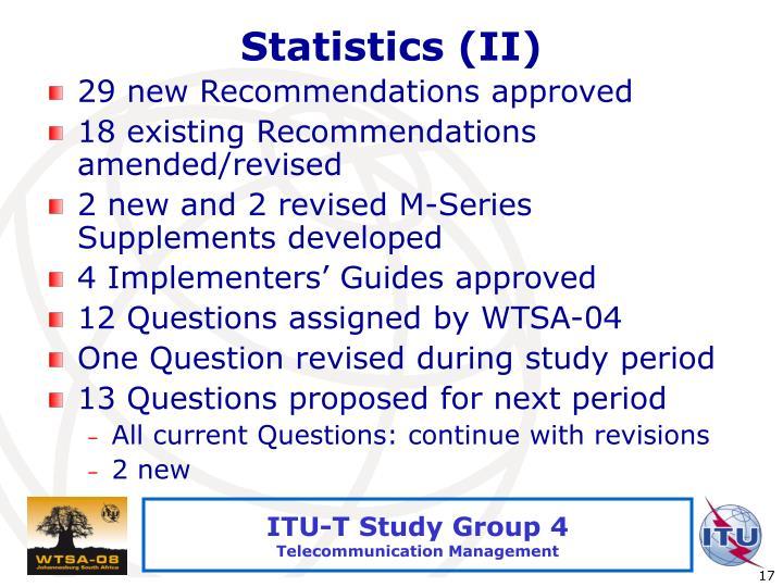 Statistics (II)