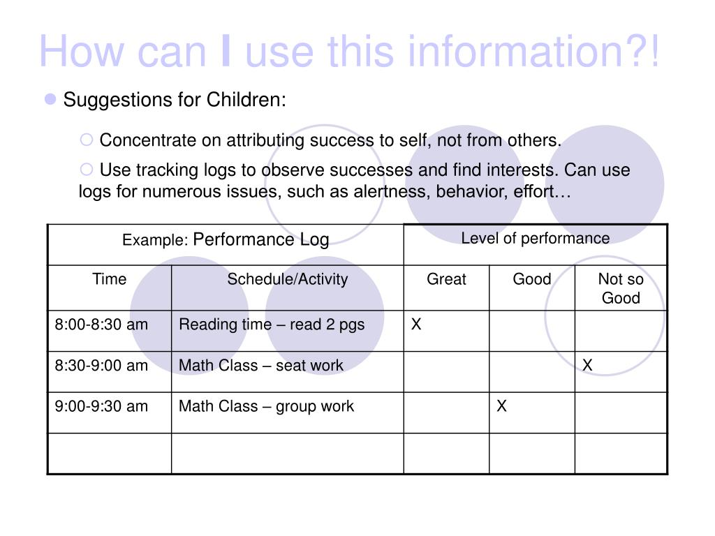 Suggestions for Children:
