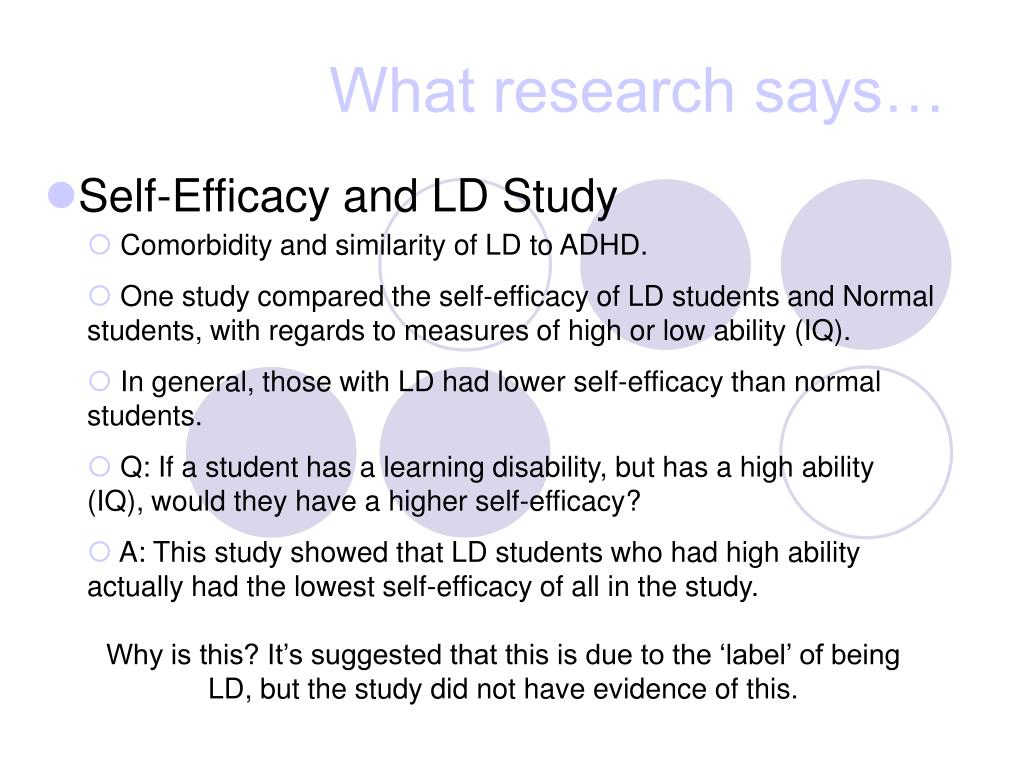 What research says…