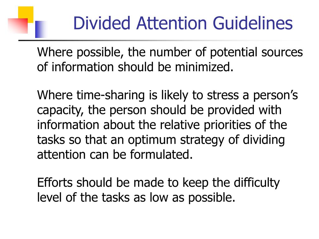 Divided Attention Guidelines