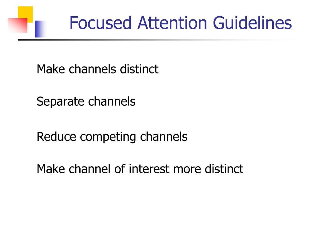 Focused Attention Guidelines