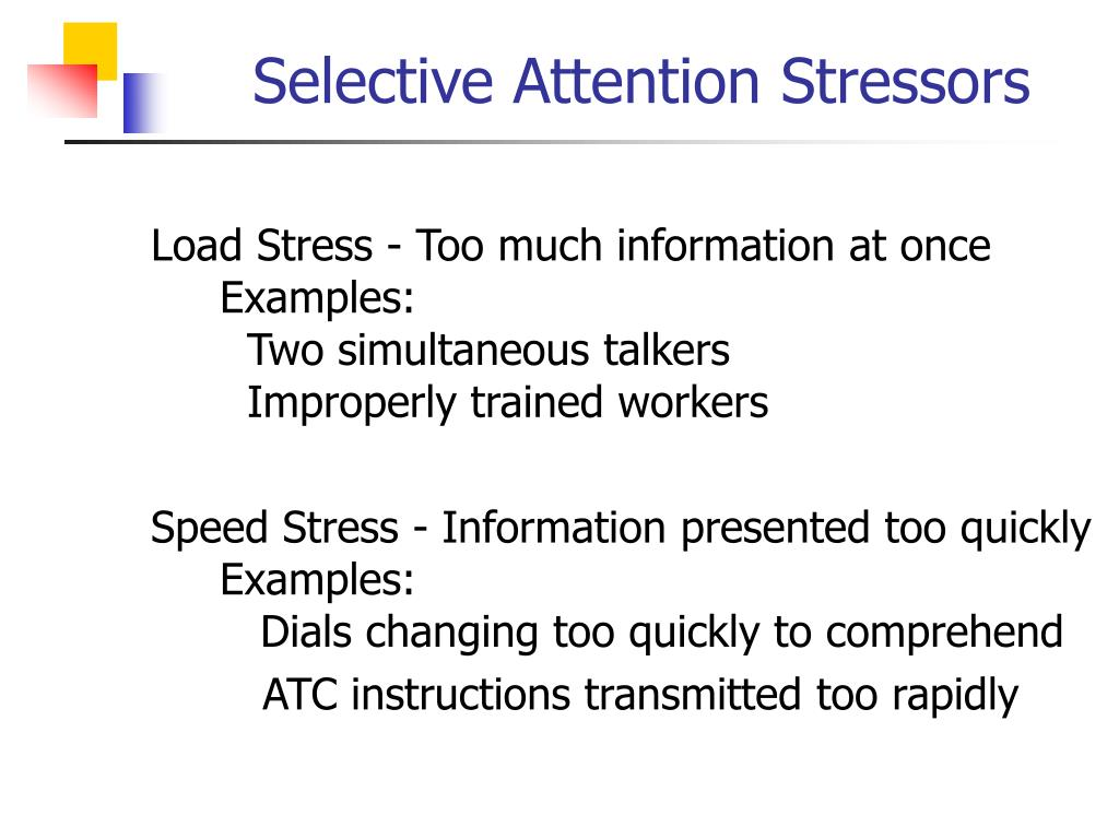 Selective Attention Stressors