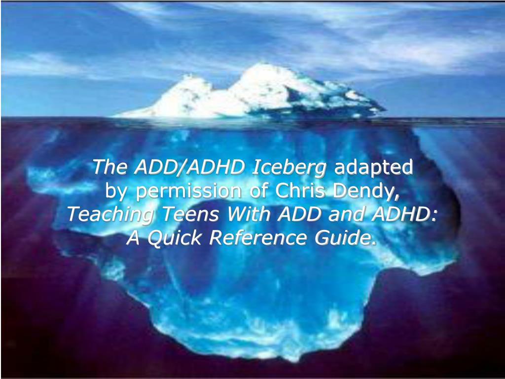 The ADD/ADHD Iceberg