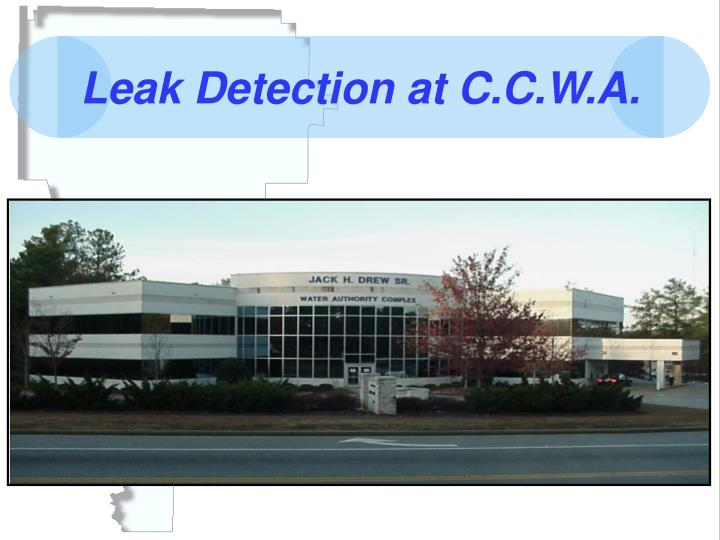 Leak detection at c c w a