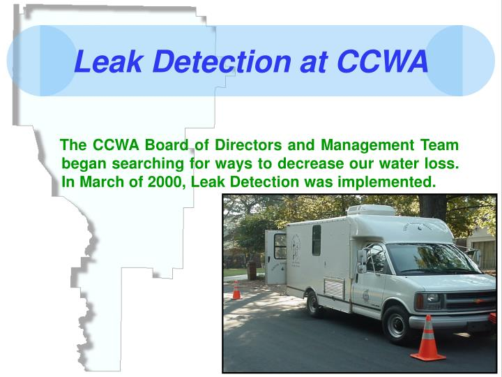 Leak Detection at CCWA