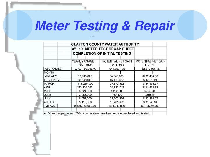 Meter Testing & Repair