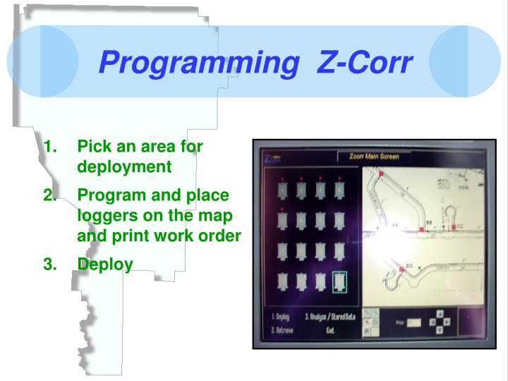 Programming  Z-Corr