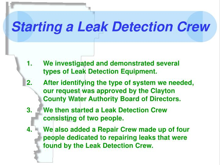 Starting a Leak Detection Crew