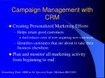 campaign management with crm
