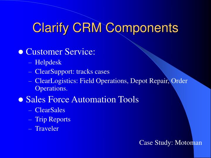 Clarify CRM Components
