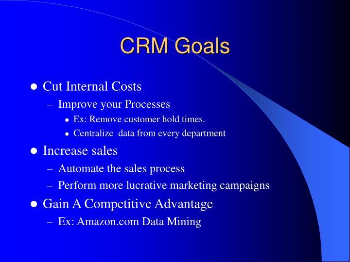 CRM Goals