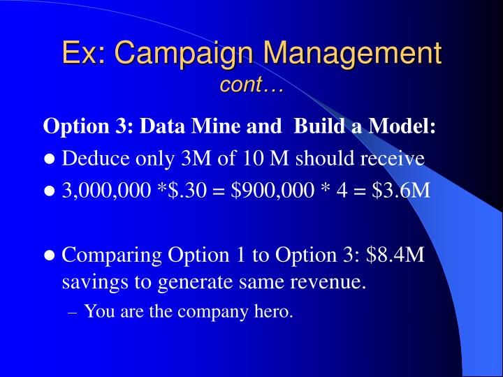 Ex: Campaign Management