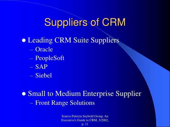 Suppliers of CRM