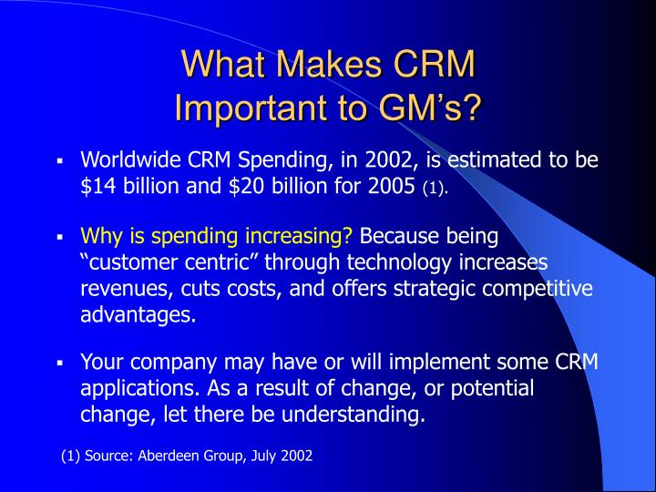What Makes CRM