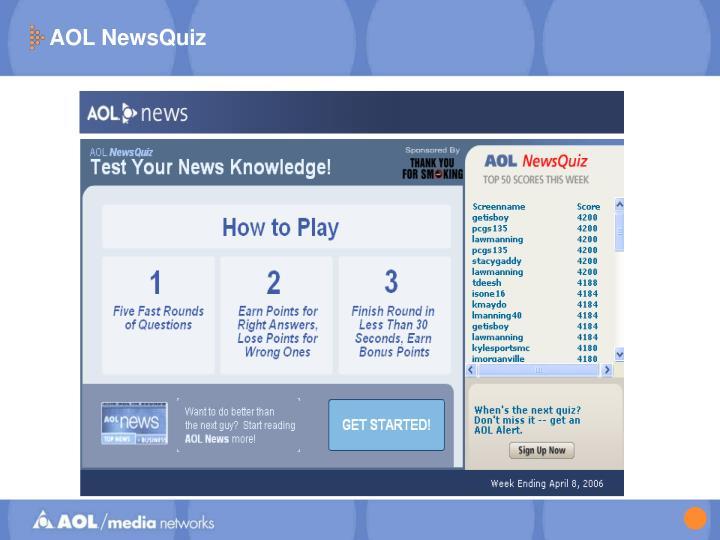 AOL NewsQuiz