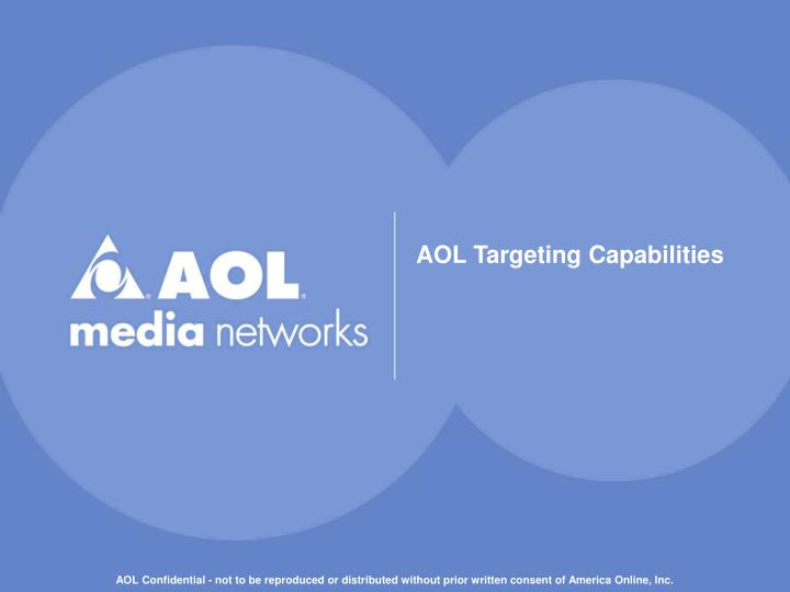 AOL Targeting Capabilities