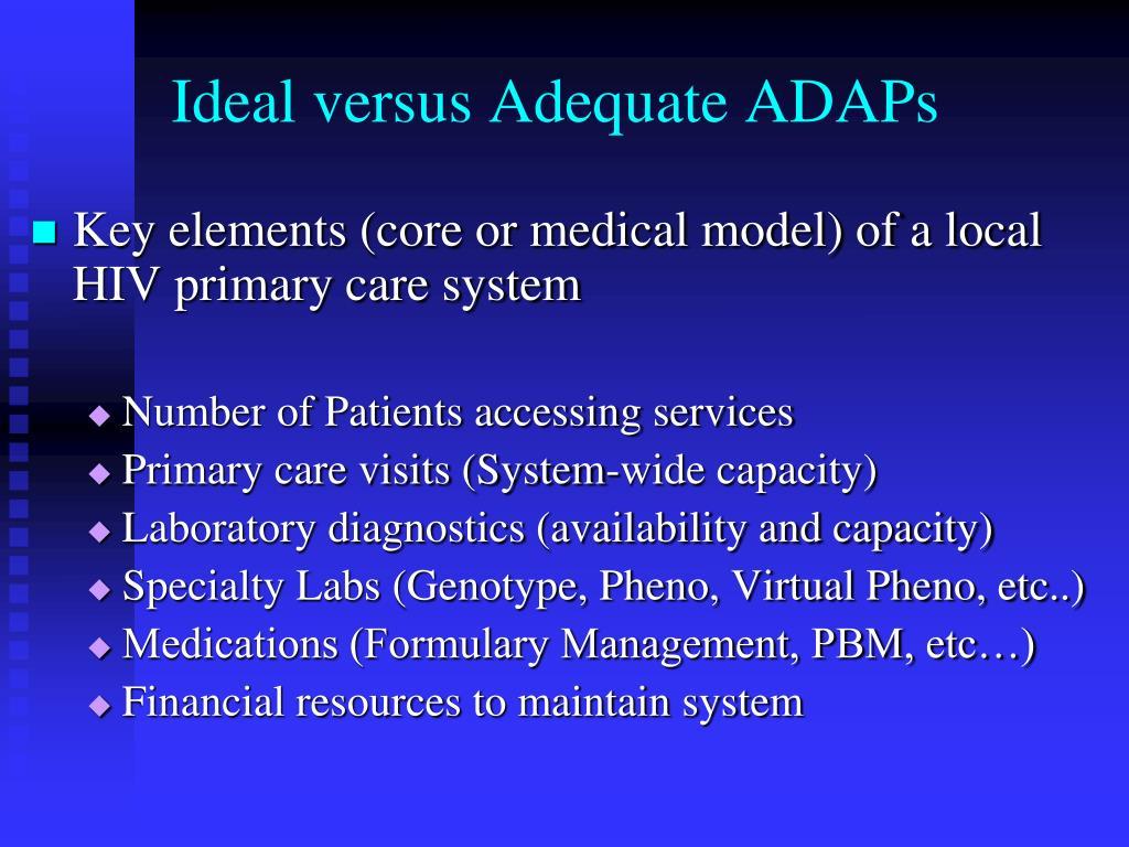 Ideal versus Adequate ADAPs