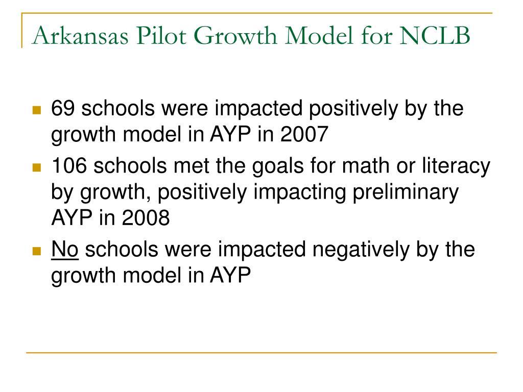 Arkansas Pilot Growth Model for NCLB