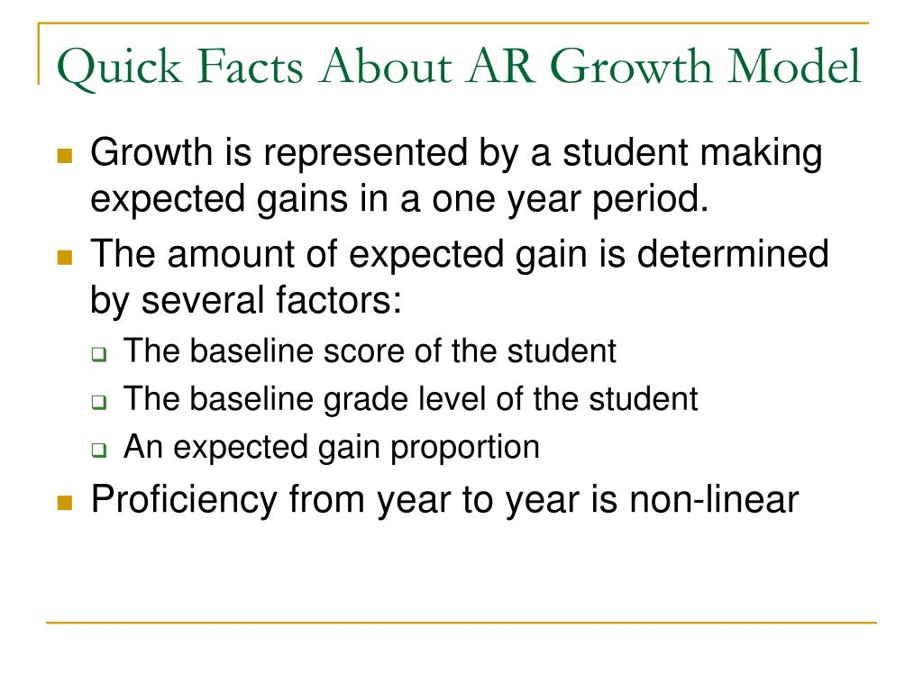 Quick Facts About AR Growth Model