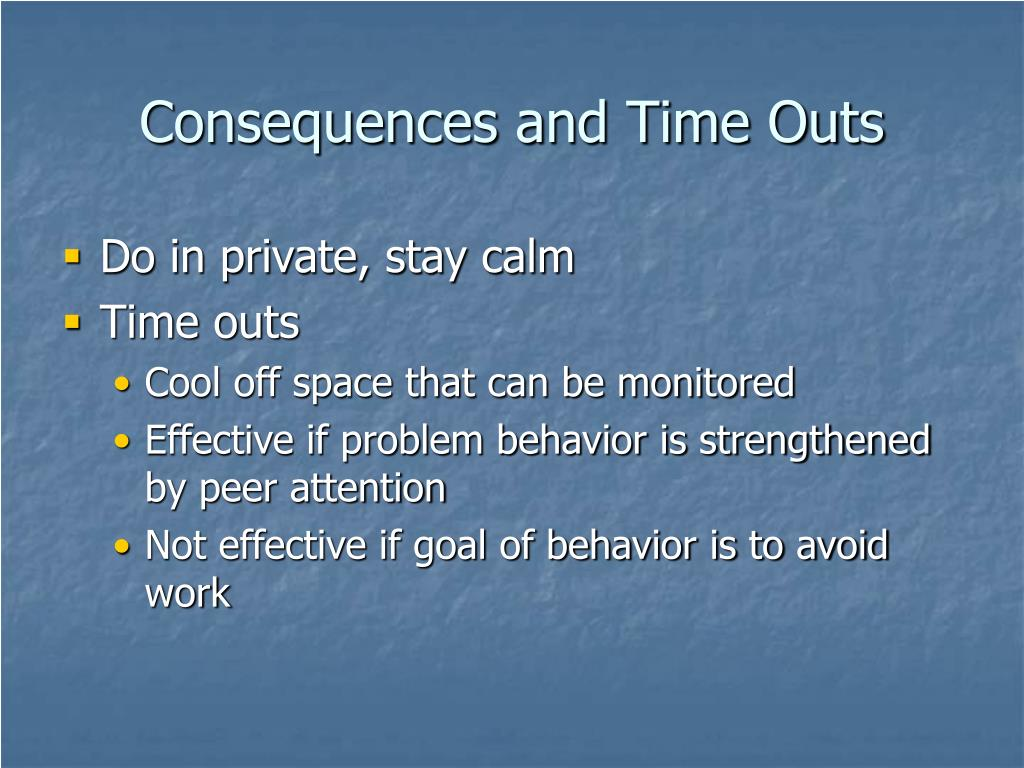 Consequences and Time Outs