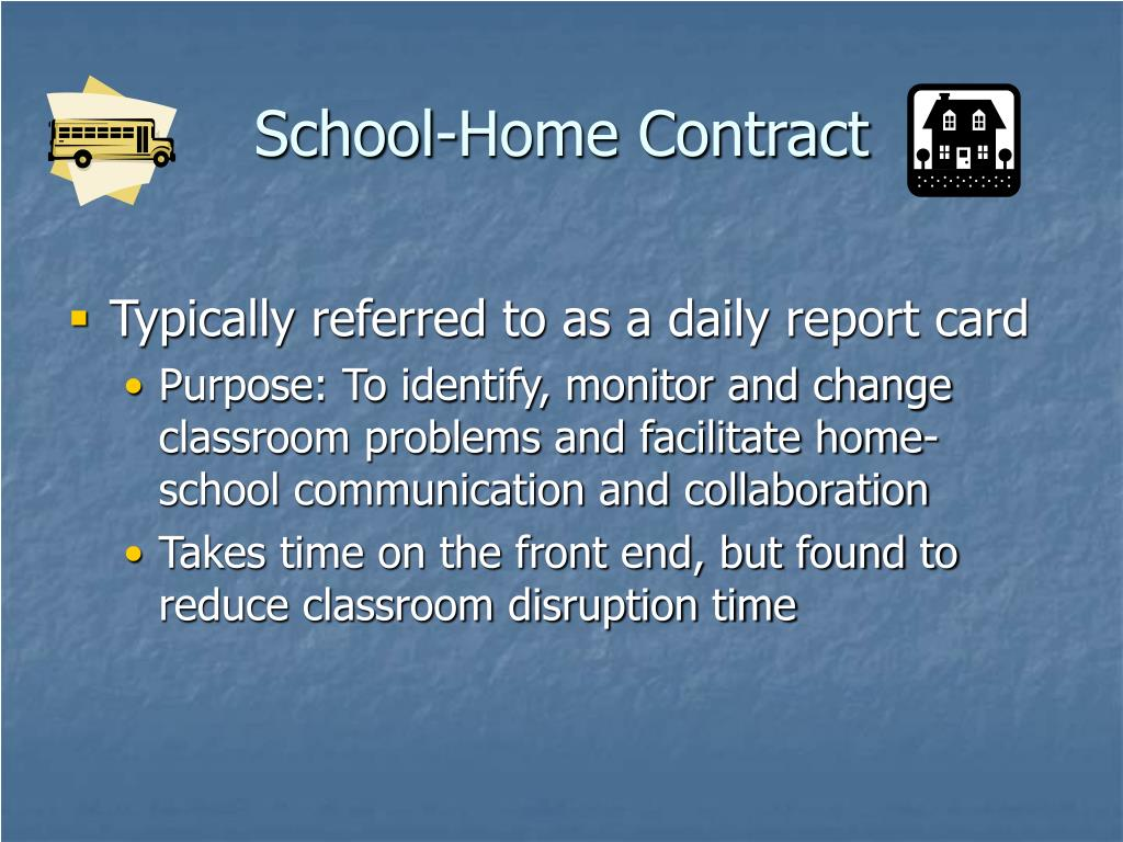 School-Home Contract