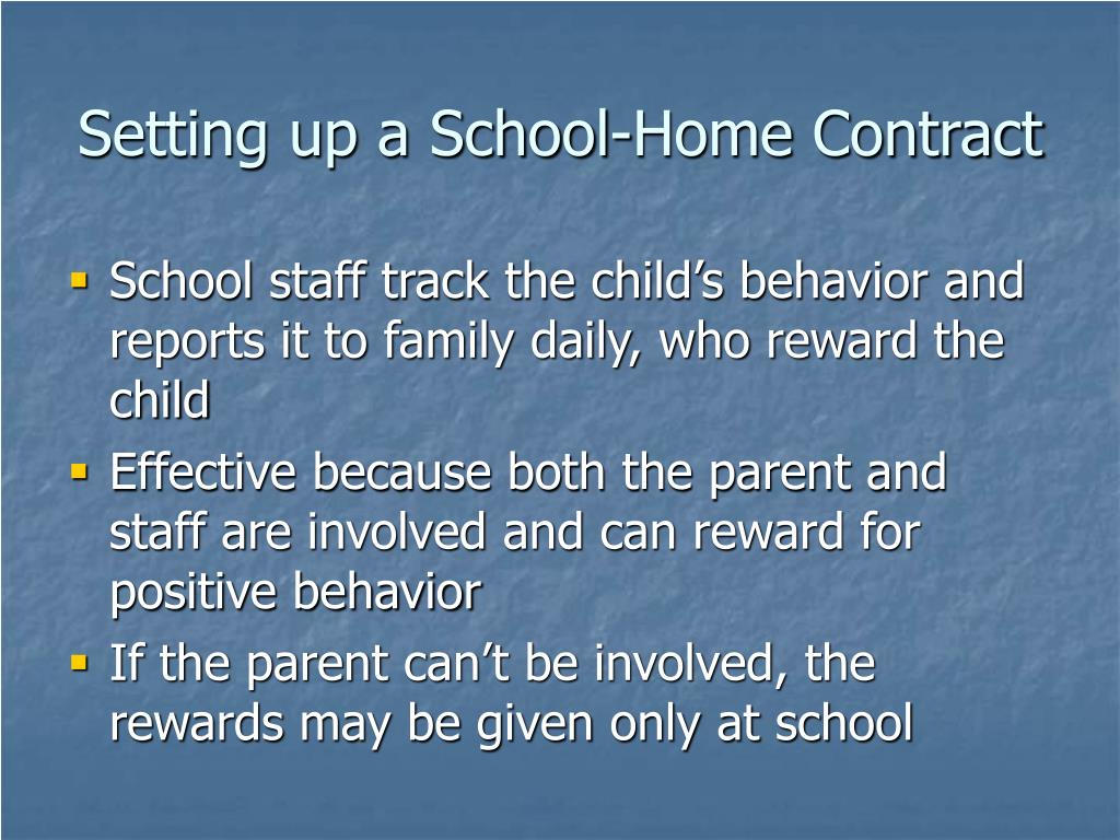 Setting up a School-Home Contract
