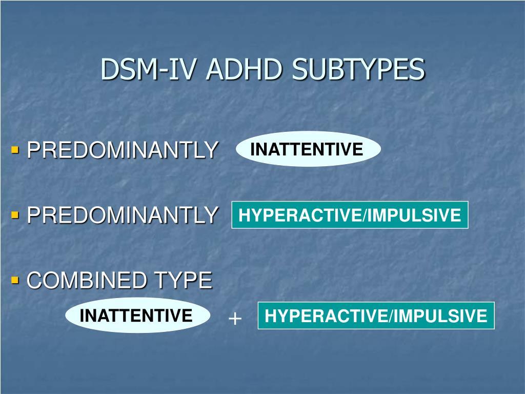 DSM-IV ADHD SUBTYPES