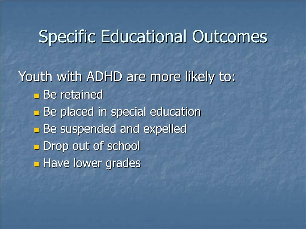 Specific Educational Outcomes