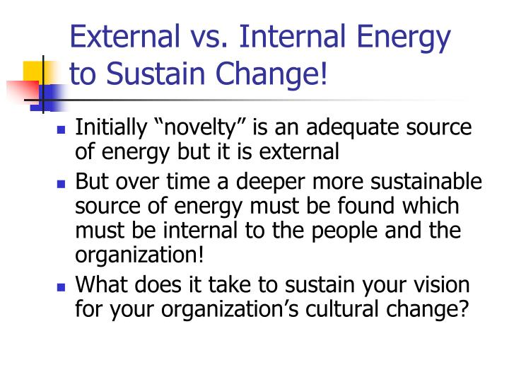 External vs. Internal Energy
