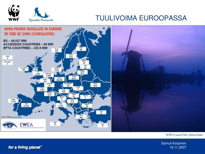 TUULIVOIMA EUROOPASSA