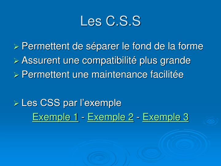 Les C.S.S