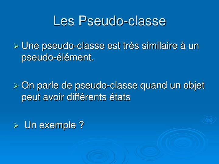 Les Pseudo-classe