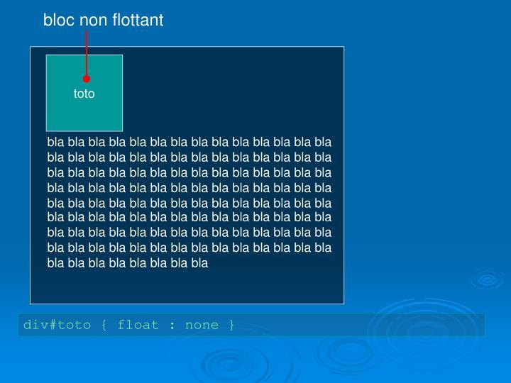 bloc non flottant