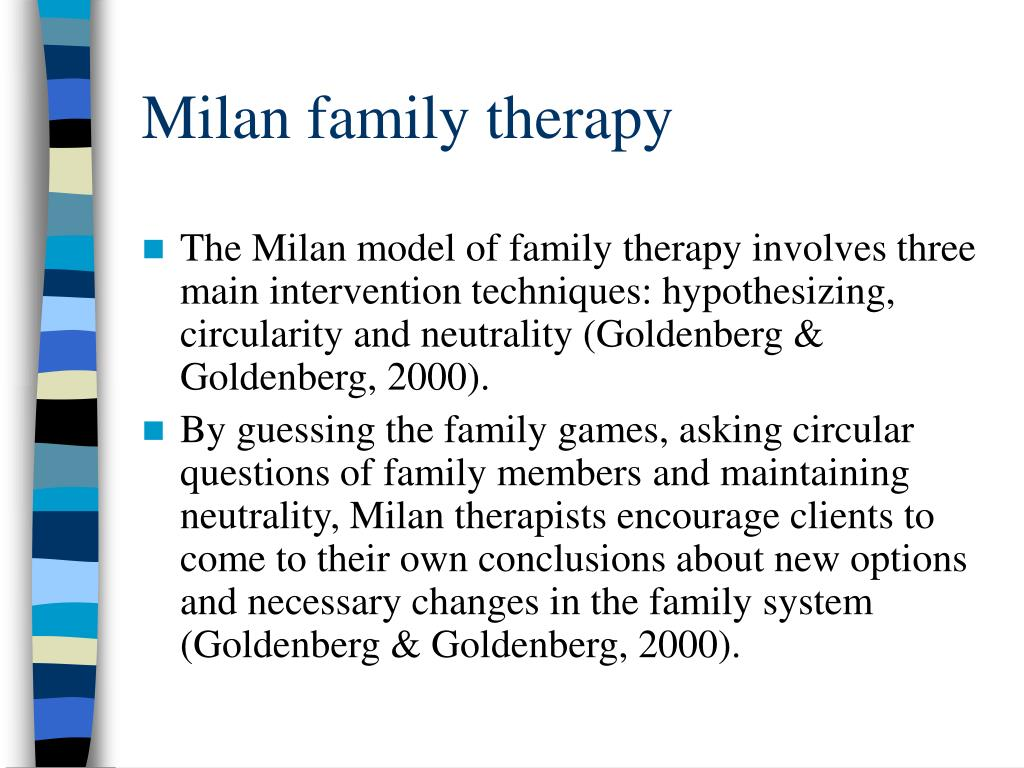 postmodern and family systems therapy The foundation of collaborative therapy is postmodernism, a philosophical approach advocating both a skeptical attitude toward knowledge and the belief that knowledge is a socially constructed.
