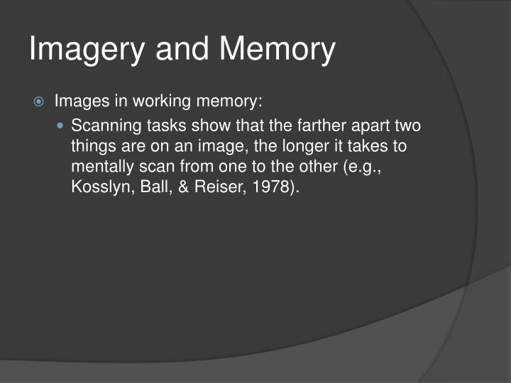 Imagery and Memory