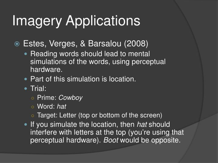 Imagery Applications