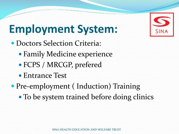 Employment System: