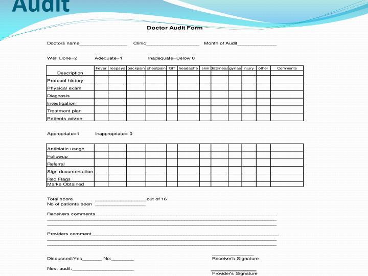 Protocol Based Audit