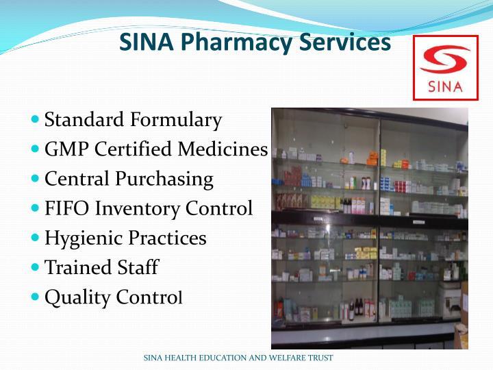 SINA Pharmacy Services