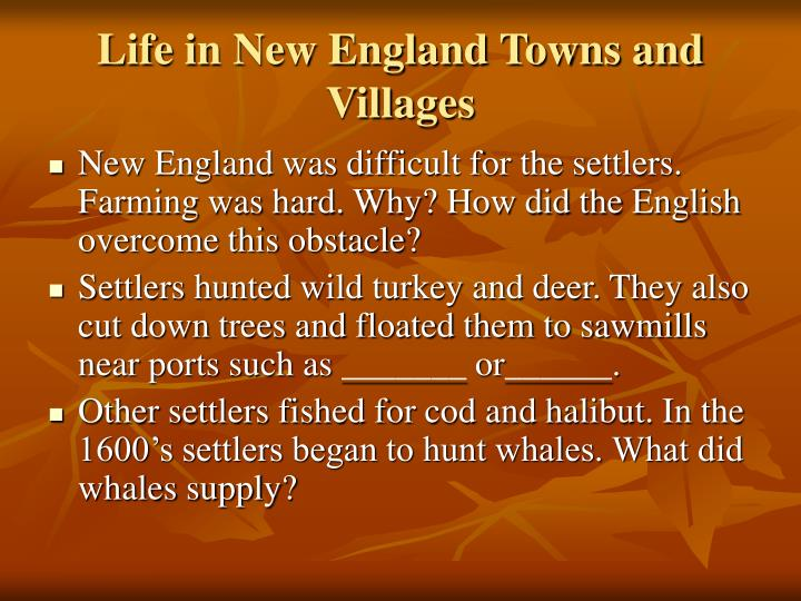 Life in New England Towns and Villages