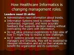 how healthcare informatics is changing management roles10